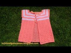 Chalequito para bebé (0 a 8 meses) a crochet. Parte 1 de 2. - YouTube