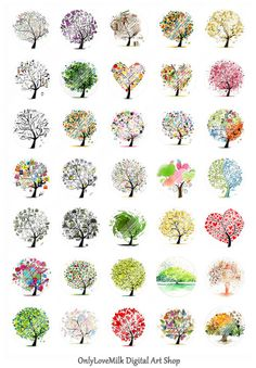 Magical Tree Digital Collage SheetNature Scenery by OnlyLoveMilk, $1.50