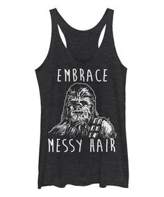 Look at this Heather Black 'Embrace Messy Hair' Racerback Tank - Women on #zulily today!