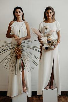 The Mia dress (L) and the Patricia dress (R) | Lena Medoyeff Studio | Bridal | Portland, Oregon | Photography by Benjamin Holtrop