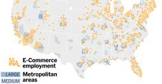 Although online shopping companies have created hundreds of thousands of jobs, they have not directly made up for the losses at traditional retailers, and the new jobs tend to be concentrated in a small number of large cities.