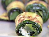 Grilled Zucchini Rolls with Herbs and Cheese Recipe