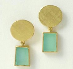 Earrings 18ct gold andean opals
