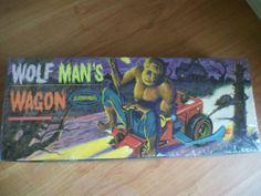 Aurora Wolfman's Wagon Vintage Model Kit 458 98 1964 SEALED in Package | eBay