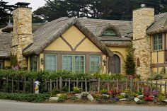 Carmel California beautiful homes Coastal Cottage, Cottage Homes, Cottage Style, Storybook Homes, Storybook Cottage, Carmel California, Places In California, Old School House, Fairytale Cottage