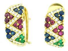 Natural Diamond Multi Gemstone Earrings 18K Yellow Gold [... https://www.amazon.com/dp/B00CKIDL0Q/ref=cm_sw_r_pi_dp_CySExbARZM9G0