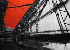 Original Architecture Painting by Aljona Shapovalova Architecture Collage, Factory Architecture, Industrial Architecture, Series Black, Original Paintings, Original Art, Composition Art, Urban Art, Manga Art