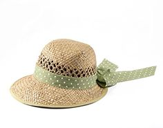 Miuno® Damen Strohhut Sommer Hut aus Natur Stroh H51013