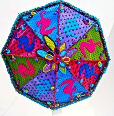 Having fun with an umbrella.