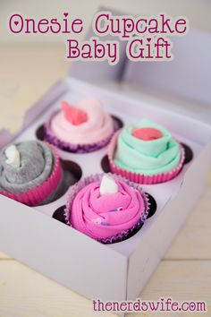 This Onesie Cupcake Baby Shower Gift is a creative and fun present for moms-to-be!