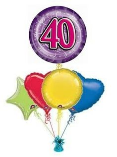 40th Purple Party Streamers 30th Birthday Balloons 21st Parties 50th