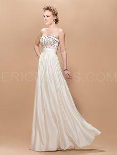 Graceful A-Line Sweetheart Beading Floor-Length Charming Prom Dress 2