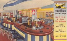 POSTCARD – CHICAGO – STRATOLINER COCKTAIL LOUNGE – 2634 E 75TH – NE CORNER AT EXCHANGE – 1944 POSTCARD - CHICAGO - STRATOLINER COCKTAIL LOUNGE - 2634 E 75TH - NE CORNER AT EXCHANGE - 1944