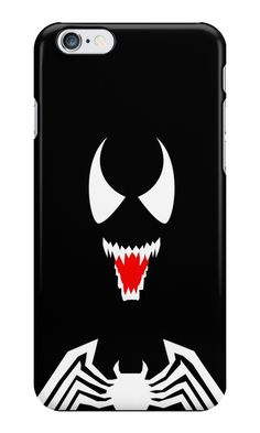 """Venom Minimalist Art"" iPhone Cases & Skins by adesigngeek 
