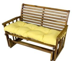 Buy Outdoor Bench Cushion Tufted Chair Loveseat Patio Seating Glider Swing Striped at online store Patio Bench Cushions, Outdoor Cushions And Pillows, Patio Seating, Patio Chairs, Seat Cushions, Outdoor Benches, Tufted Chair, Upholstered Bench, Replacement Cushions
