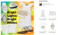 """Look fresh and cool from head to toe in white this summer with vegan  """"Bright Lights, Bright Whites"""" style. 10 Ways to Be a Compassionate Fashionista with Vegan Friendly Summer Fashions"""