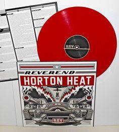 REVEREND HORTON HEAT rev Lp Record RED Vinyl with lyrics insert , LIMITED COLOR #GarageRockPunkNewWaveRockabillyPsychobilly