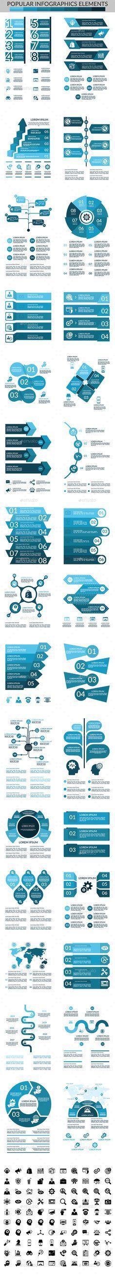 30 Popular Infographic Elements - Infographics