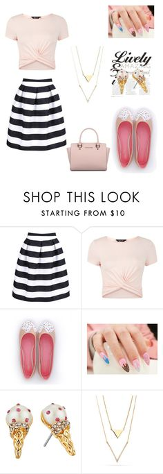 """""""ice cream"""" by cutypieloveyou ❤ liked on Polyvore featuring New Look, Kate Spade and Michael Kors"""
