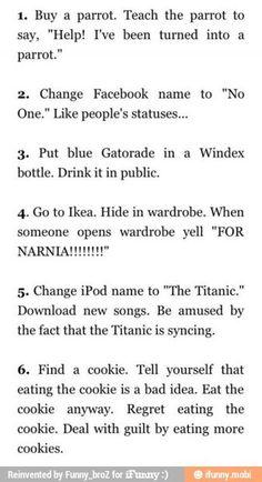 Bucket list ideas (lol number 5 is hilarious)