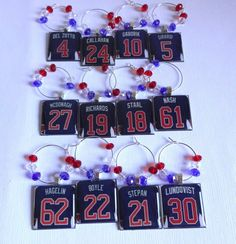 New York Rangers Wine Charms  Pick 6 by TaylenandKatie on Etsy, $32.50