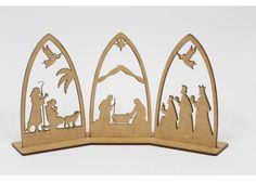 InteliCut: Nacimiento en MDF 20cm - Kichink Nativity Christmas