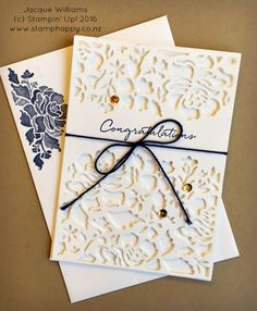 stampin up floral phrases night of navy wedding