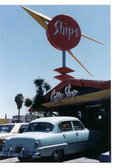 Ships Restaurant on Overland Blvd. in LA.  I use to go to Ships with my dad in the 80s and have such fond memories of this Googie treasure.  They sadly closed mid 90s.