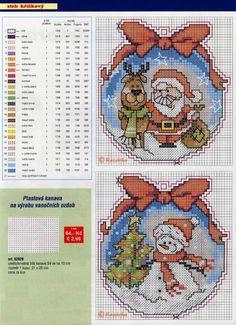 Santa & Snowmen, plastic canvas, chart, page 2/3