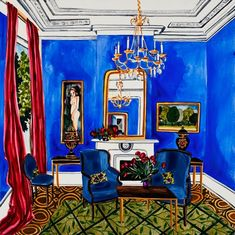Annika Connor  Print 5, The Blue Room by Annika Connor  on Little Paper Planes