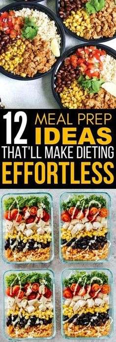 Diet Meal Plans These 12 Meal Prep Ideas Are PERFECT If You Want Something Easy To Make To Help You Lose Weight Fast! - These delicious meal prep lunch ideas for weight loss will help you diet without feeling restricted. They're also pretty easy to make! Healthy Drinks, Healthy Eating, Fast Healthy Meals, Healthy Foods, Healthy Weight, Weekly Meal Prep Healthy, Protein Foods, Healthy Delicious Meals, Healthy Snack Recipes For Weightloss