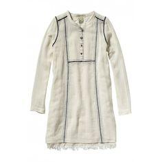 VESTITO BAMBINA DELLA SCOTCH R'BELLE Vestito da bambina della Scotch R'Belle in tessuto leggero color ecrù con maglia a rete con applicazioni e impunture decorative a contrasto e profili con frange bohémien, per una bambina che ama la comodità e l'eleganza. #scotchrbelle #scotch&soda #vestiti #abiti #dress #bambina #bimba #ragazza #girl #child #children #teeneager #kids #junior #teen #shopping #negozionline #eshop #ecommerce #fashion #moda