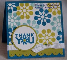 Stampin Up Modern Flower Thank You