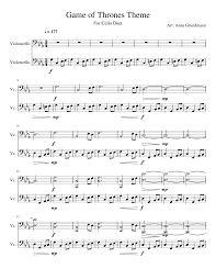Resultado de imagen para game of thrones main theme sheet music