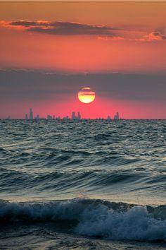Chicago Skyline from Indiana, adamstom78