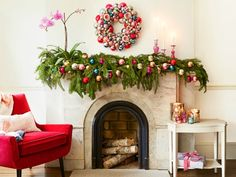 Holiday Mantel Decor Ideas - Christmas Mantel Decorations - Good Housekeeping