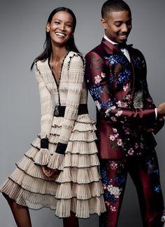 Publication: Vogue US August 2015 Model: Liya Kebede, Michael B. Jordan Photographer: Patrick Demarchelier
