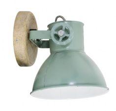 Wandleuchte Industrie, wandleuchte vintage, wandleuchte grün, wandleuchte holz, wandleuchte industrial, wandleuchte light-living