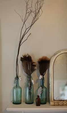 natural accruements on the mantle by Maggie Pate, via Flickr