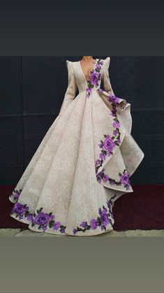 deep v neck prom dresses 2020 lace long sleeve embroidery appliqué elegant unique prom gown V Neck Prom Dresses, Ball Dresses, Ball Gowns, Prom Gowns, Elegant Dresses, Pretty Dresses, Formal Dresses, Wedding Dresses, Formal Wear