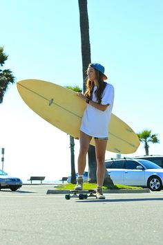 This is me.....soon....I really want to move close to a beach, I love skateboarding and want to surf. This will be me someday.