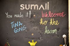 SumAll's NYC office chalkboard.
