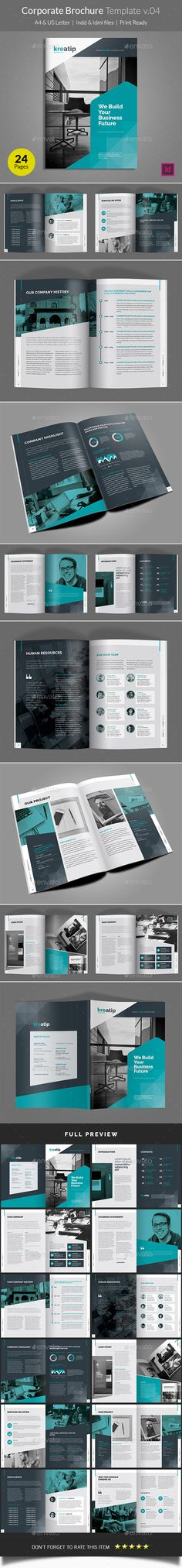 Corporate Brochure Template InDesign INDD. Download here: http://graphicriver.net/item/corporate-brochure-template-v04/16107844?ref=ksioks