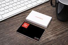 Free Designer Business Card Mockup
