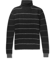 McQ Alexander McQueenStriped Wool and Cashmere-Blend Rollneck Sweater