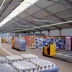 Losberger industrial storage tents offer a lightweight aluminium frame with a tensioned membrane roof covering. Supply Chain Management, Inventory Management, Roof Covering, Industrial Storage, Storage Area, Warehouse, Courier Service, Lead Time, Tents