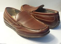 NUNN BUSH men brown size 9 slip on loafer style #shoes Memroy Foam leather lining visit our ebay store at  http://stores.ebay.com/esquirestore