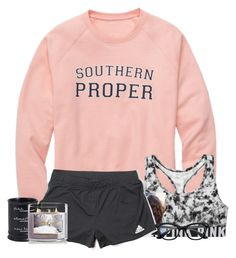 •idk how I like the single life right now • by fashionpassion2002 on Polyvore featuring polyvore, fashion, style, adidas, Victoria's Secret, Pier 1 Imports, CO and clothing