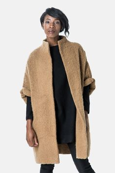 Cocoon coat - Elizabeth Suzann. Completely sourced and assembled in the US for all the dollars