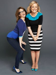 Tina Fey + Amy Poehler. I would give my right arm just to sit down and converse with these two for an hour. Total ab workout.